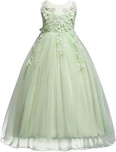 New Flower Girl Dress Princess Vintage Special Occasion Party Wedding FREE Sash