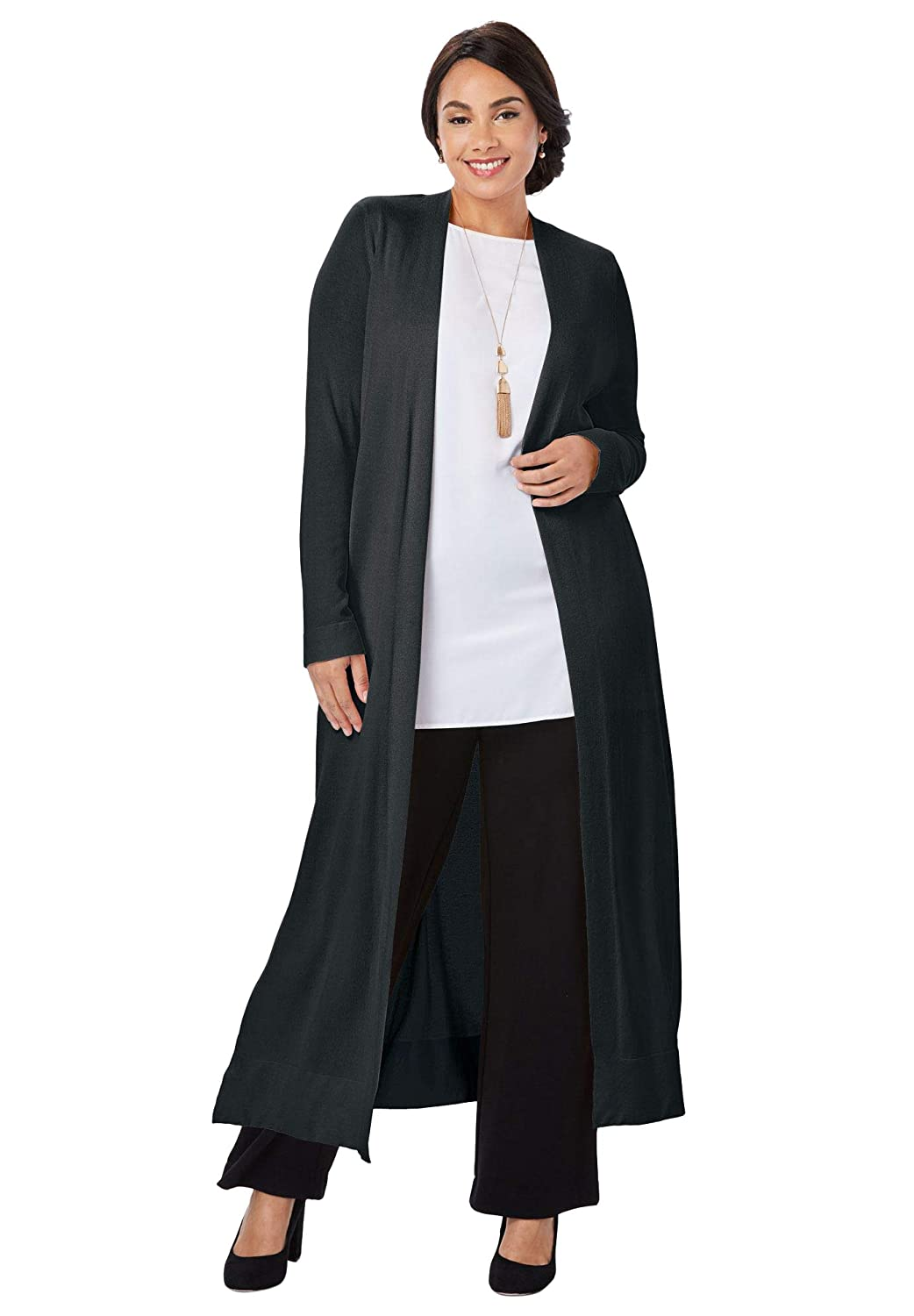 Jessica London Womens Plus Size Sweater Duster