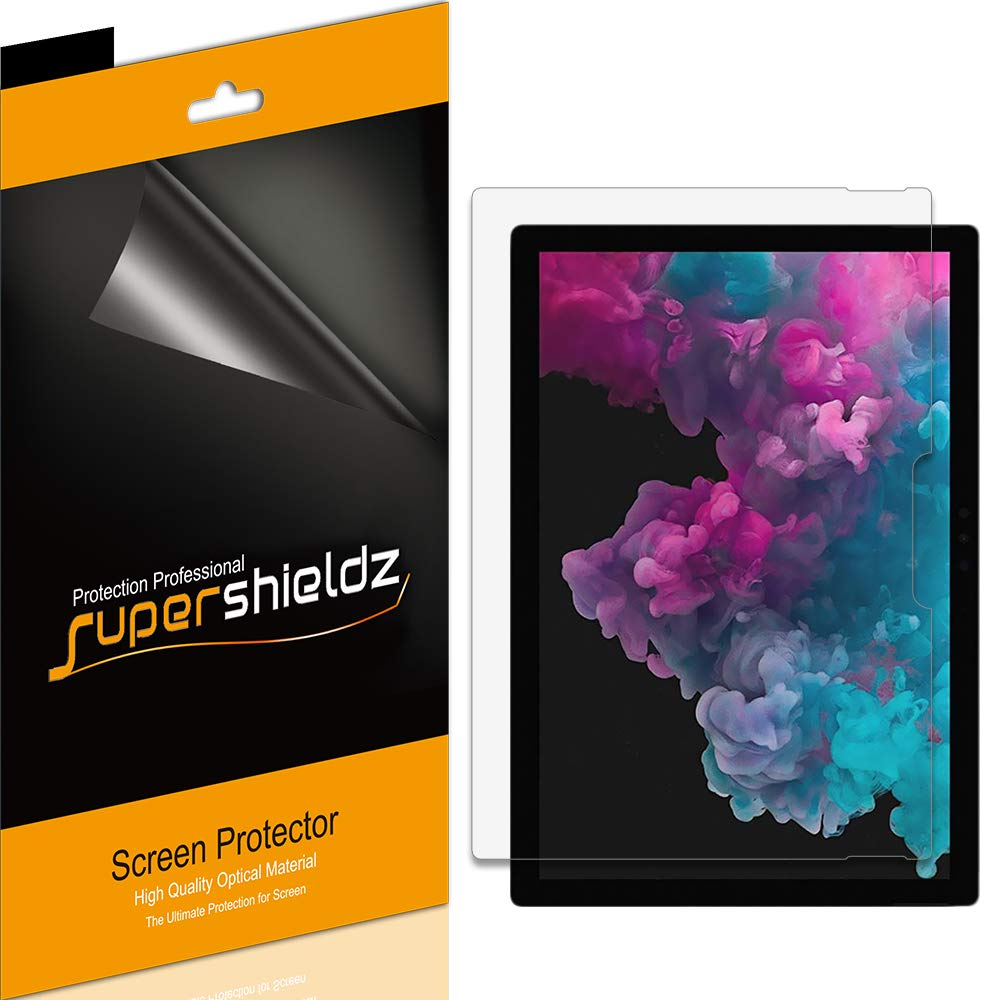 (3 Pack) Supershieldz for Microsoft Surface Pro 7, Surface Pro 6, Surface Pro 5 and Surface Pro 4 Screen Protector, High Definition Clear Shield (PET)