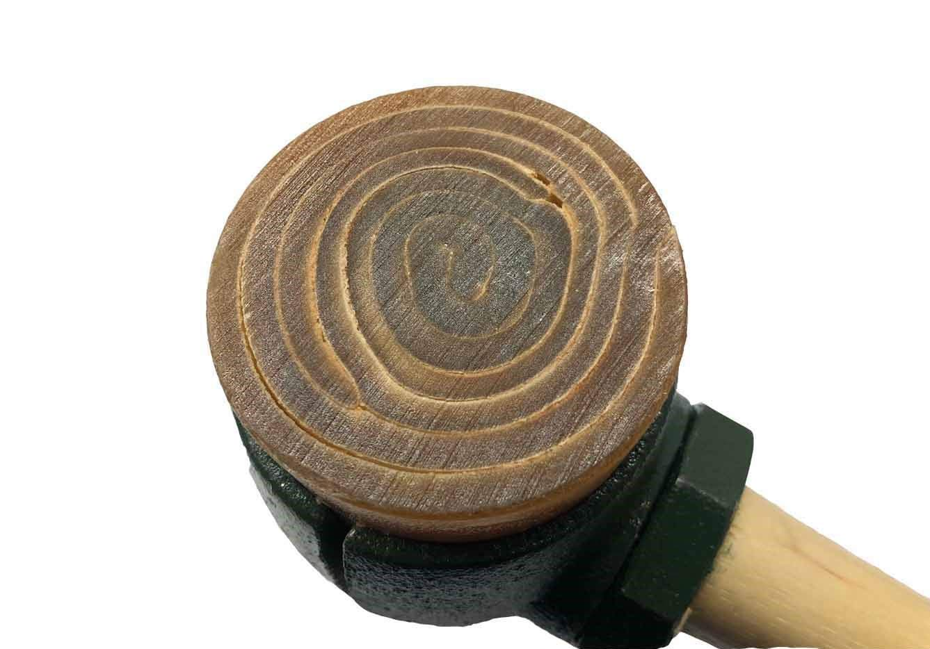 Rawhide Mallet Split Head Hammer #5 GARLAND 31005 with 2-3/4'' Rawhide Faces by Garland (Image #2)
