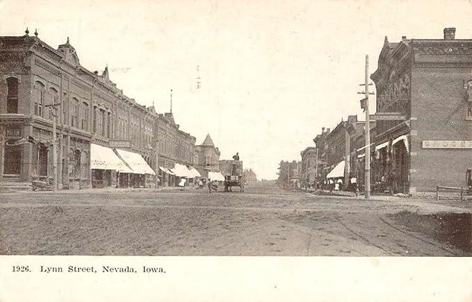 Nevada Iowa Lynn Street Scene Historic Bldgs Antique Postcard K54685 At Amazon S Entertainment Collectibles Store