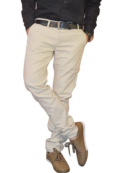 f5590c2b173 Nation Polo Club Men s Slim Fit Solid Beige Color Linen Blend Trouser 30