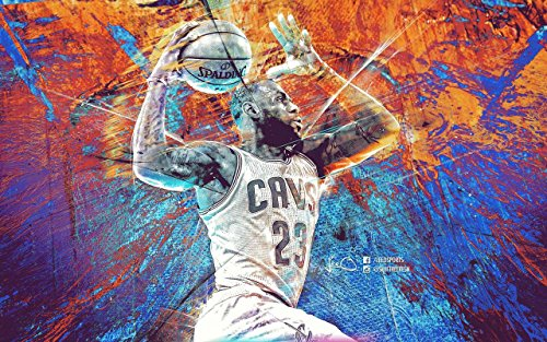 - LeBron James Basketball Player Sportsman 12 x 18 Inch Quoted Multicolour Rolled Poster
