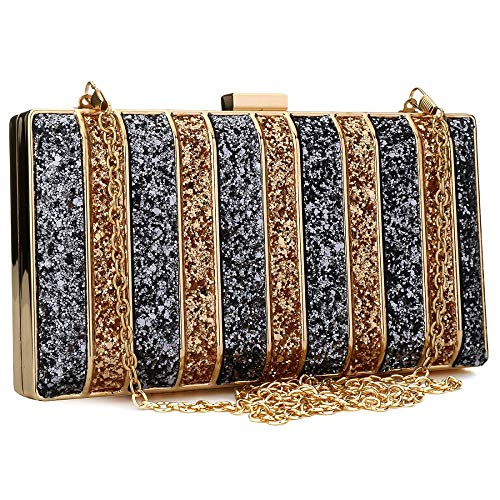 Prom Purse Evening 6 Handbag IBELLA Rhinestone Evening Bridal Clutch Clutch Elegant Womens Clutch qqA8xwfX