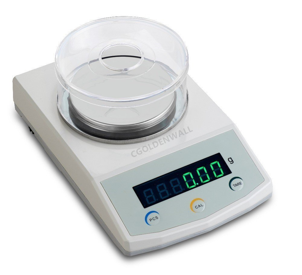 CGOLDENWALL TD2 Series High Precision Laboratory Electronic Analytical Balance Scale LED Digital Scale Lab Sensitive Weighing Scales 110V-240V CE 0.01g (500g, 0.01)