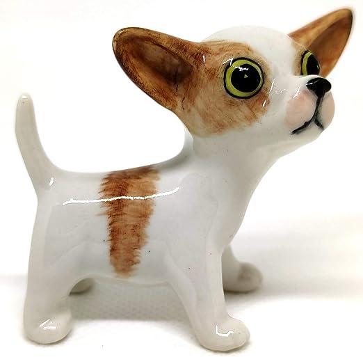 Ceramic Animal Figurine Chihuahua Dog puppy Handmade Collectible dog Statue Gift