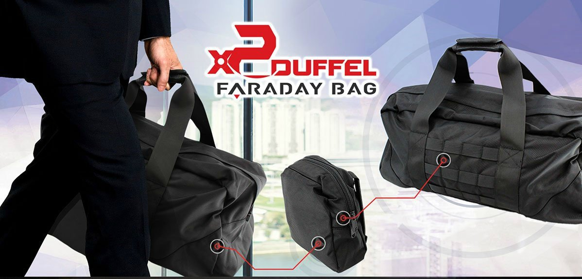Mission Darkness X2 Faraday Duffel Bag. Laptop, Tablet, Phone & Other Device Shielding for Law Enforcement, Military, Executive Privacy, Travel, Data Security, Anti-hacking & Anti-tracking Assurance