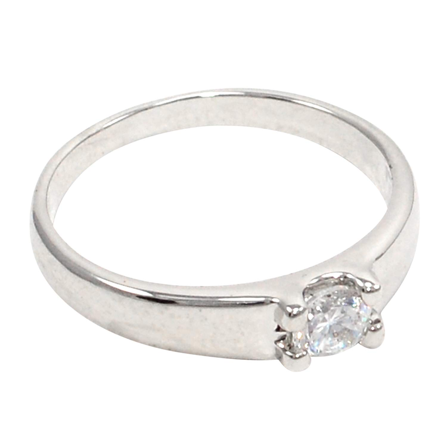 Saamarth Impex Cubic Zircon 925 Silver Plated Ring Sz 9 PG-108155