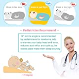 Universal Baby Crib Pillow for Baby Mattress Memory Foam Crib Wedge Infant Sleep Pillow Reflux and Nasal Congestion Reducer 12-Degree Incline for Better Night's Sleep