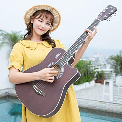 Miiliedy 38 pulgadas Moda Minimalista Guitarra acústica Hombre ...