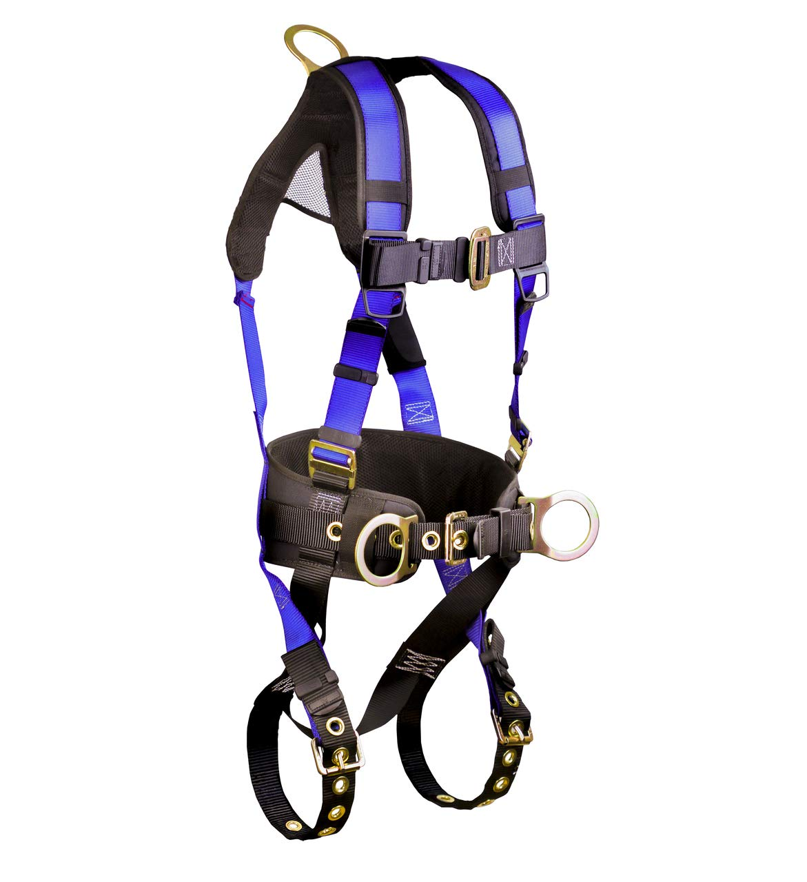 FallTech 7073B Harness with 3 D-Rings and Tongue Buckle Leg Straps (Each/L-XL)