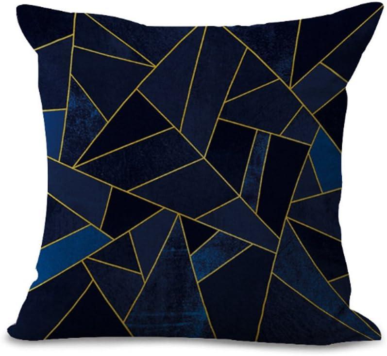 01#01 aus Baumwolle und Leinen MY-G1027 Kissen/überzug mit geometrischem Mosaik-Muster 45/x 45/cm