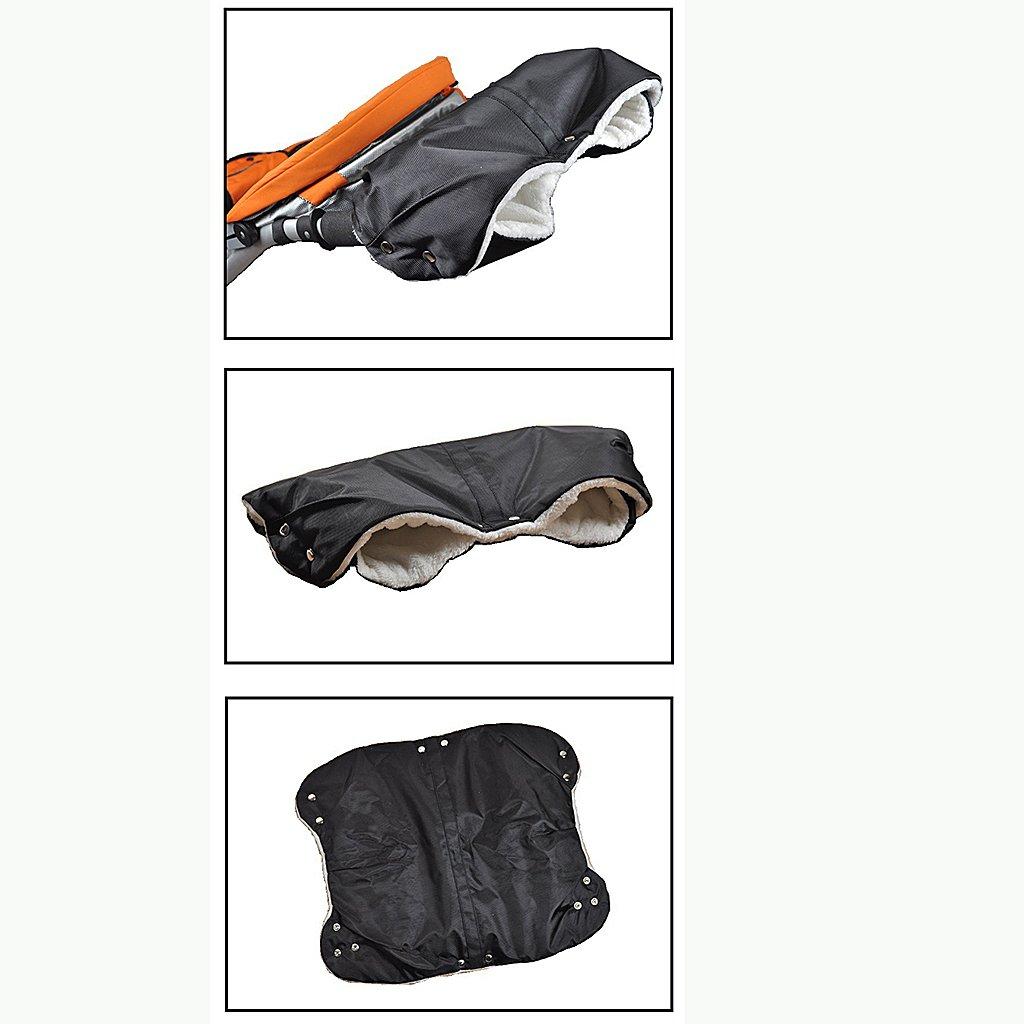MonkeyJack Pram Hand Warmer HAND MUFF Waterproof Stroller Winter Warmer Fleece Gloves