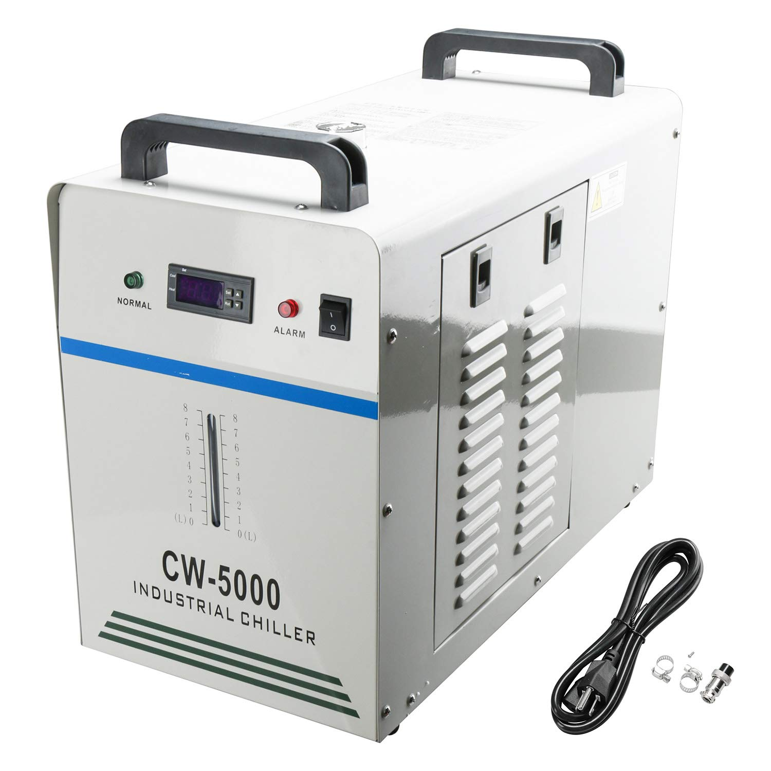 Homend Water Chiller 6L Capacity Industrial Water Chiller CW-5000DG Thermolysis Type Industrial Water Cooling Chiller for 80W /100W Laser Engraving Machine