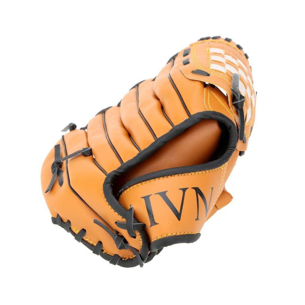 LEORX 12,5 cm-Guanto da Baseball giallo Softball Guanto sinistro esterno Team-Guanti sportivi colore