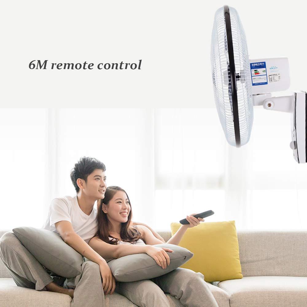 60w Wandventilator Oszillation Wand-Ventilator 50cm Mit 90 /° Oszillierend 3 Geschwindigkeit 3 Windmodus Fernbedienung Und Timer Leiser