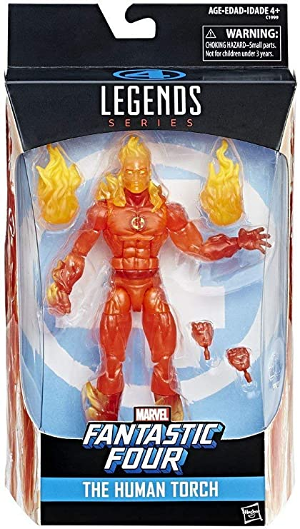 "HUMAN TORCH Marvel Legends 6/"" Figure Hasbro Fantastic Four Walgreens Exclusive"
