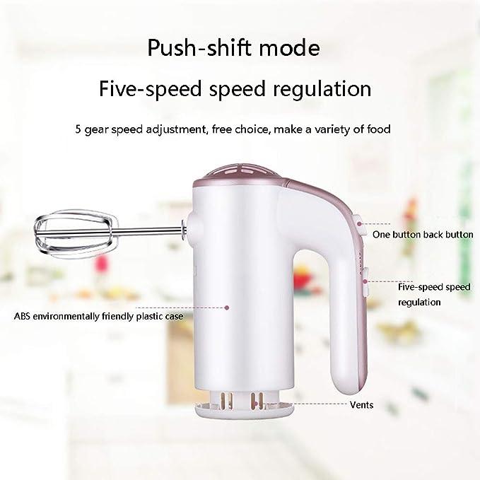 5 Velocidades Mano Mezclador Eléctrico Handheld Con Función Turbo ...