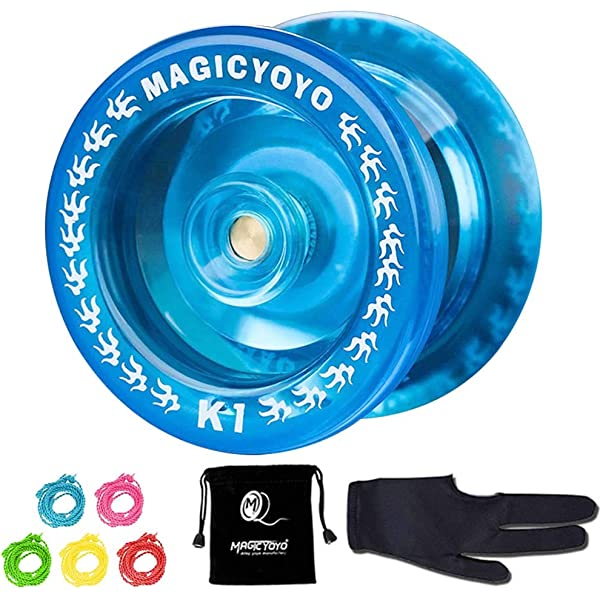 Black /& Blue /&Golden Professional Aluminum Metal Yoyo,Great Gift for Children Girls and Boys Yoyo Glove /& 5 Strings Magic Yoyo Y01 NODE Unresponsive Yoyos for Beginners Kids