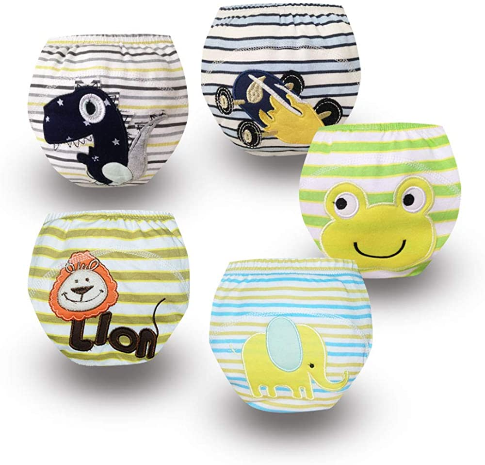 Babyfriend Baby Boys' Washable Waterproof Pack of 5 Baby Training Pants TP5-010 …