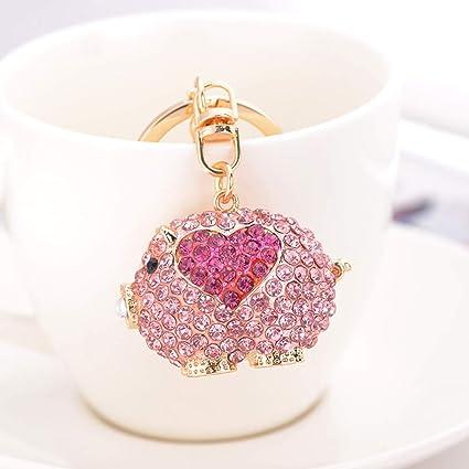 MMD Keychain Pendant Creative Little Cute Heart-shaped Pig