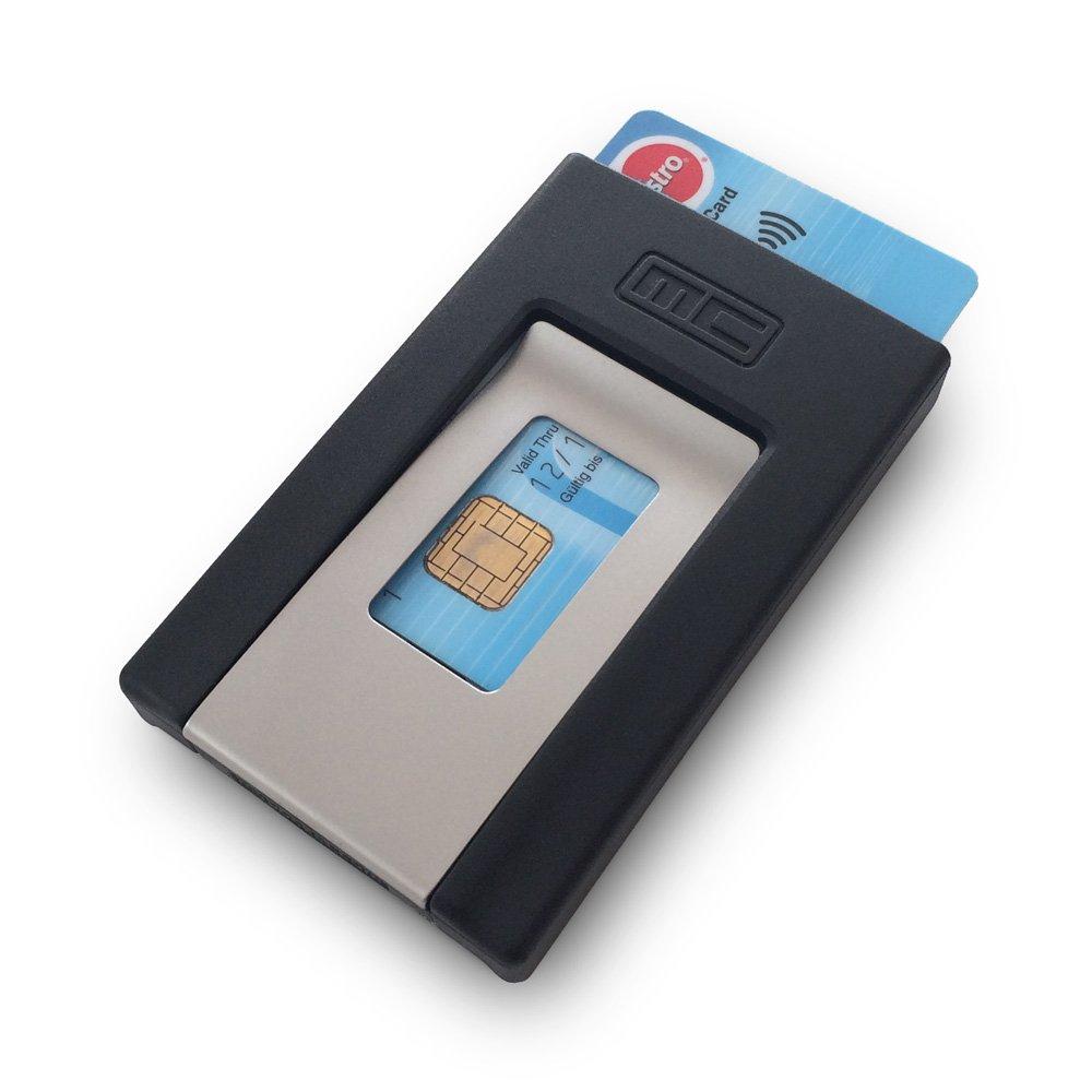 MCPOCKET L'ORIGINAL - Porte-cartes et pince à Billets dans un. Minimaliste Portefeuille.