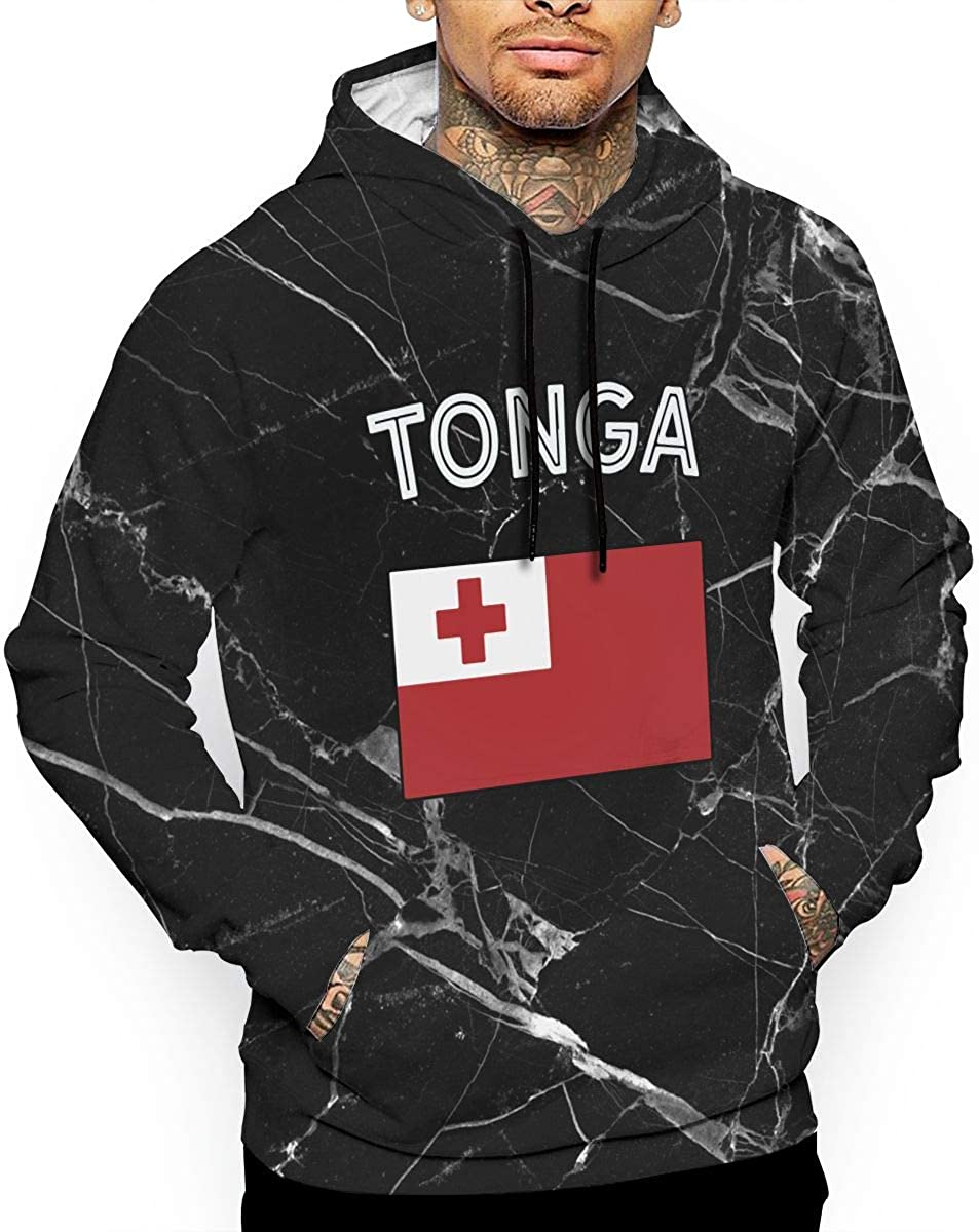 Ou50IL@WY Mens Tonga Flag Pullover Hoodie Casual 100/% Cotton Hoodie with Pocket for Men
