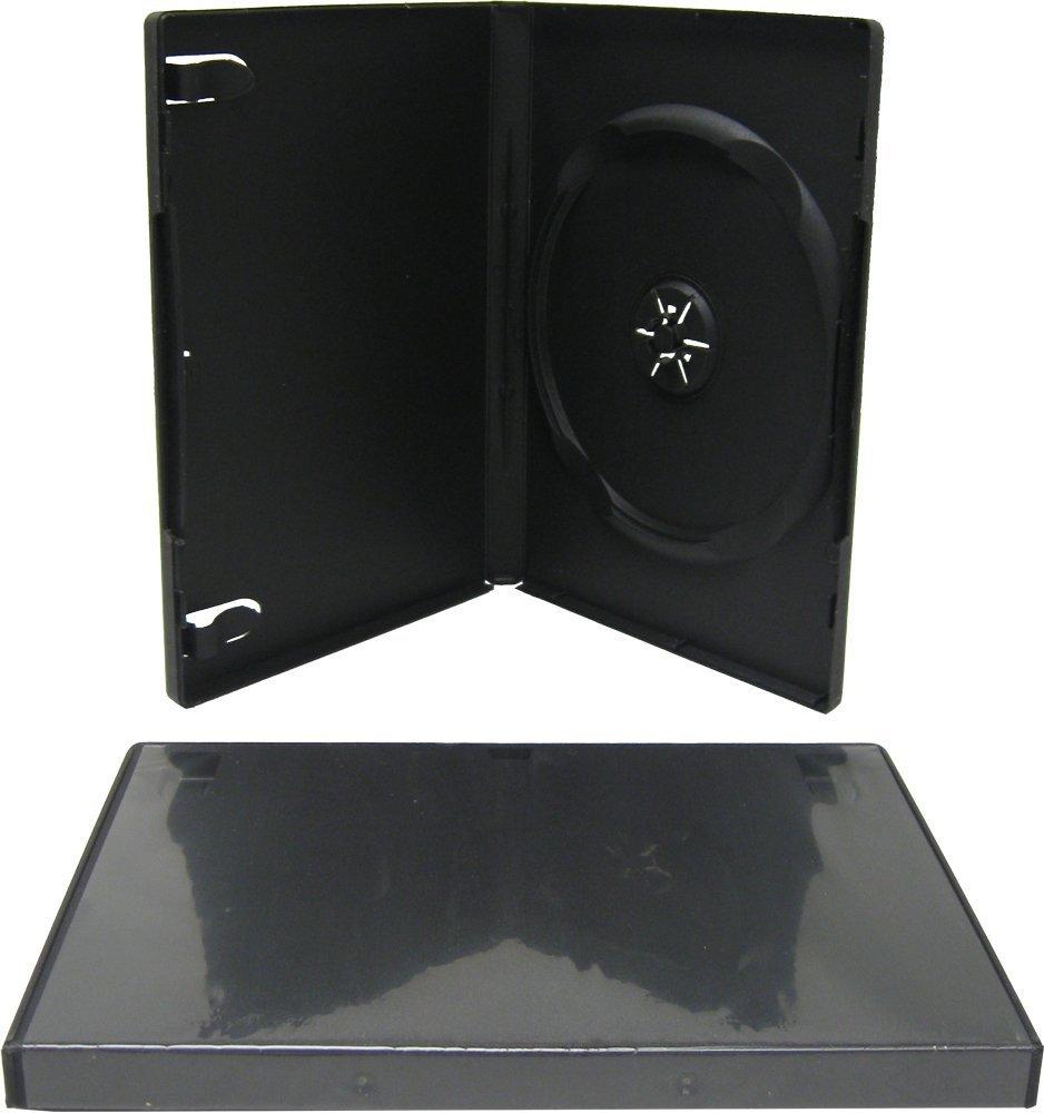 10 Estuches/Fundas PLASTICO Negros para DVD/Ref.2265: Amazon ...