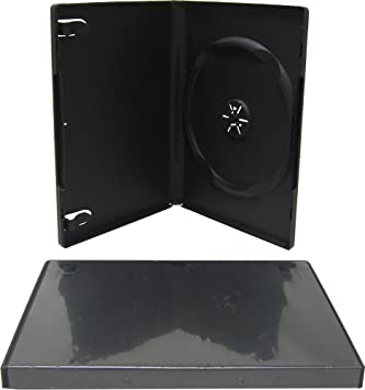 10 Estuches/Fundas PLASTICO Negros para DVD/Ref.2265: Amazon ...