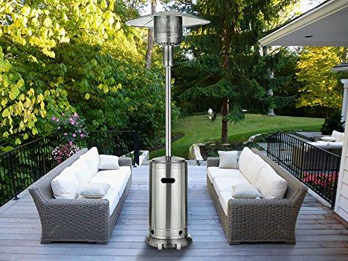 MAGIC UNION Standing Patio Heater Propane Powered Piezo Ignition Stainless Steel