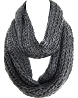 Braided Sequenced Detail Soft Woven Infinity Loop Figure Eight Scarf By Silver Fever