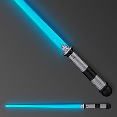 FlashingBlinkyLights Blue LED Light Up Saber Space Weapons (2-Pack): Toys & Games
