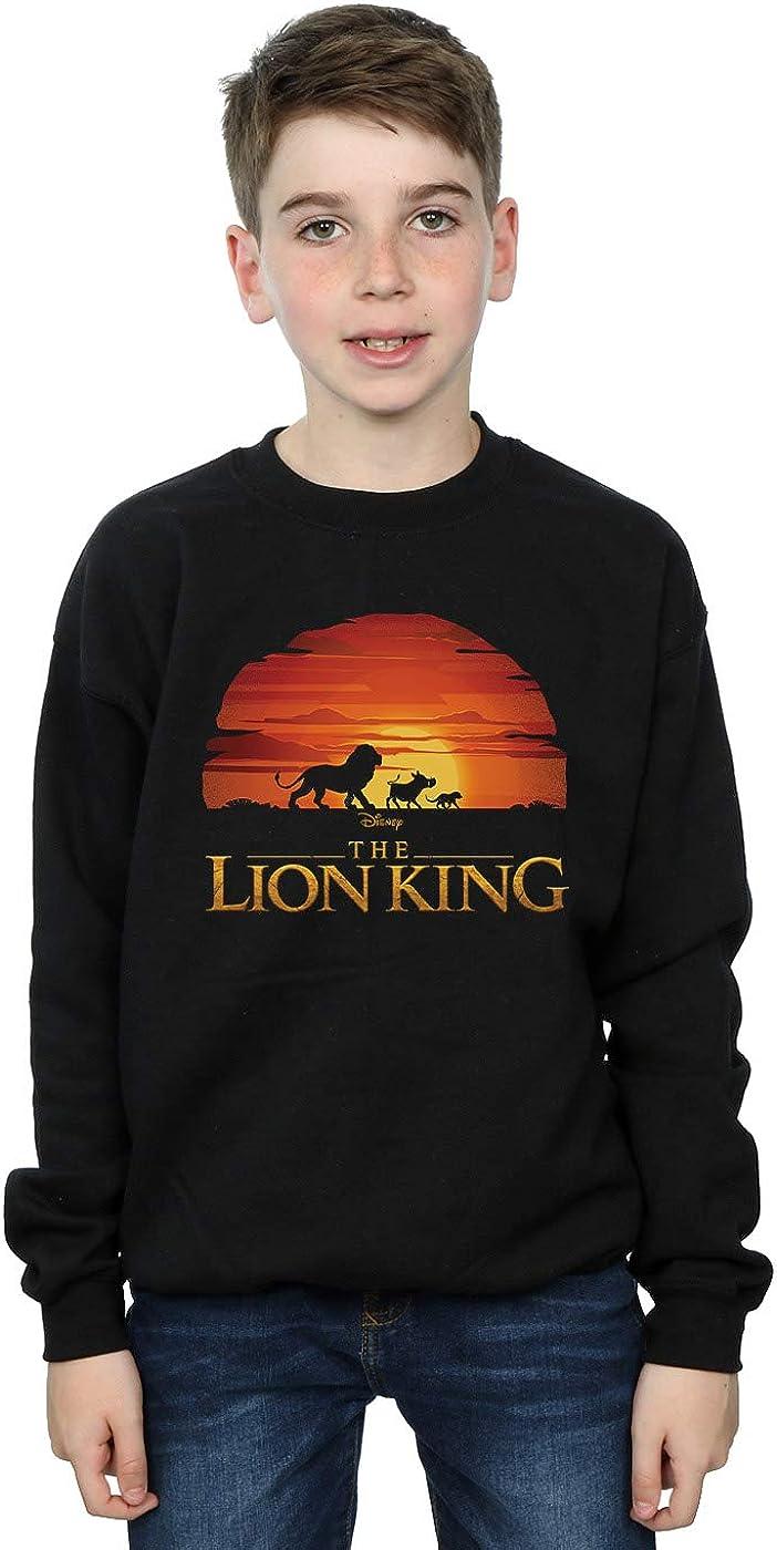 Disney Boys The Lion King Movie Sunset Logo Sweatshirt