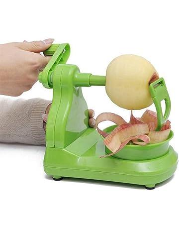 Pelador manual para frutas,Mano manivela pera pequeña máquina de pelar manzana práctica herramienta mano