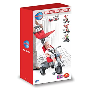 New Red Smart Trike Recliner 4 In 1 Baby Bike Child Stroller Smartrike Tricycle