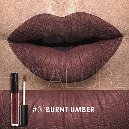 Matte Lipstick Dark Purple Lipgloss Womens Makeup Stay On Glossier Lip Gloss Long Lasting Colorful Liquid Waterproof Lip (Liquid Matte Concealer)