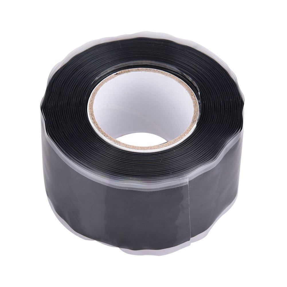 Silicone Performance Repair Tape Flex Bonding Rescue Self Fusing Wire Waterproof High Temperature Resistant Silicone Repairing Tape Insulated 2.5cm x 3m 4Colors (Black) kaersishop