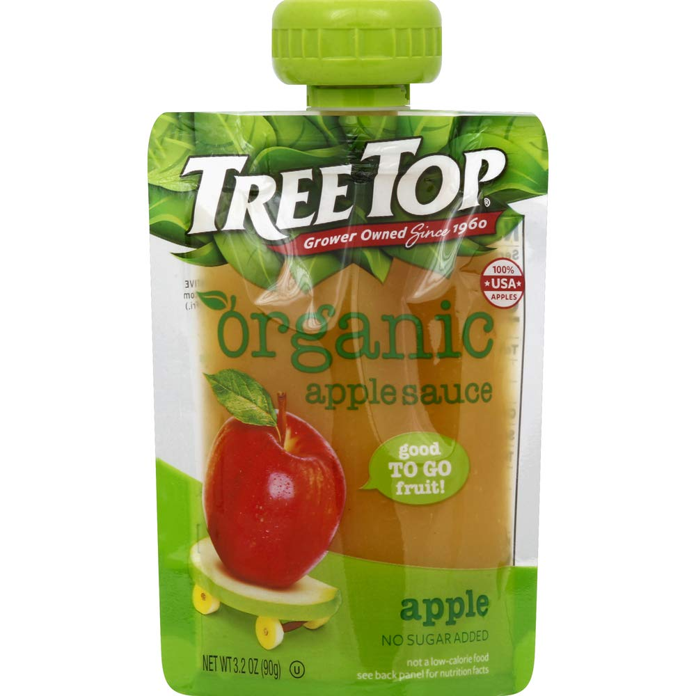 Tree Top Organic Apple Sauce Pouches, 3.2 oz, 40 Pouches
