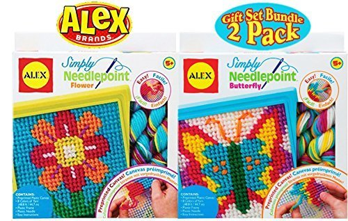 ALEX Toys Crafts Simply Needlepoint Flower & Butterfly Gift Set Bundle - 2 -