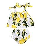 Infant Baby Girl Lemon Print Tops Shorts Briefs