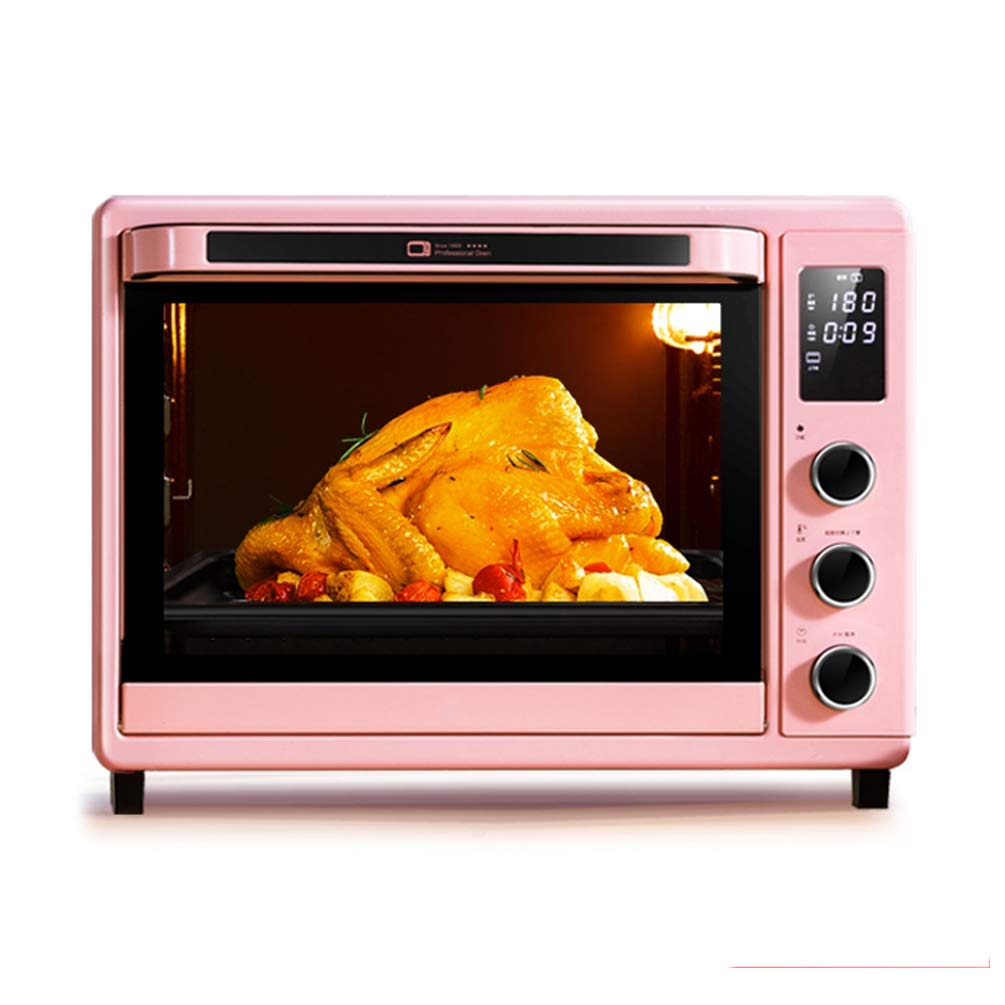 MDEOH Full Automatic Multifunctional Electric Oven 1600 Watts Pink LED Display 32 Liter Elements Intuitive Easy-Reach Toaster Oven