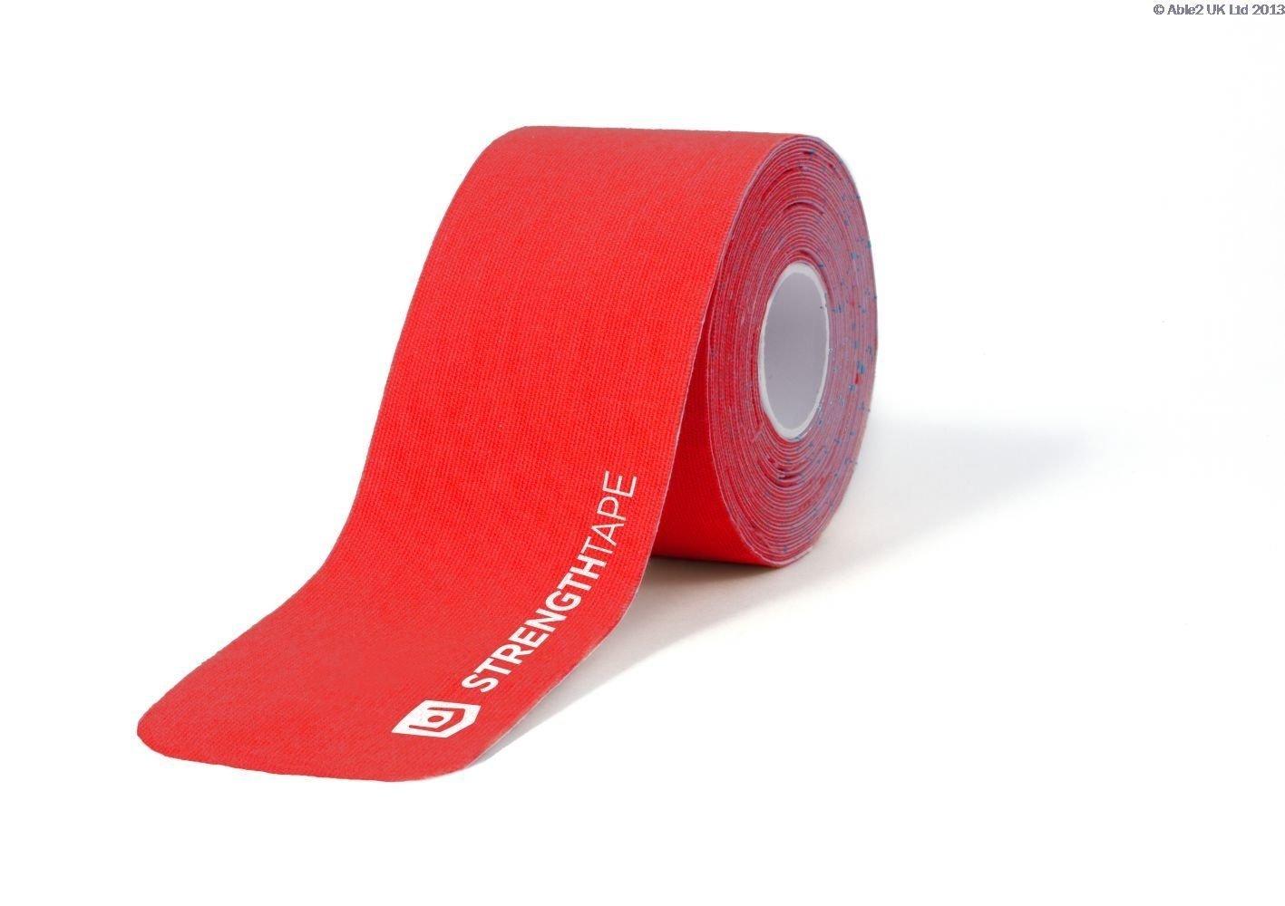 "StrengthTape Kinesiology Tape - 16.4' (5m) Roll of 10"" Precut Strips (2 Pack)"
