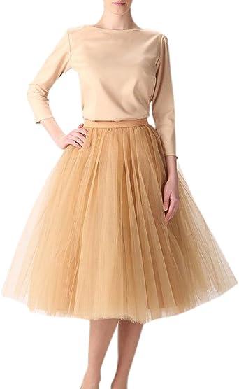 Clearbridal - 12021 Falda de tul vintage de los años 50, falda de ...
