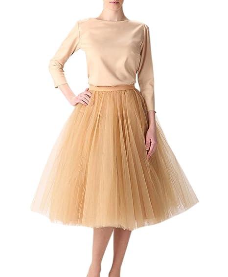 Clearbridal - Falda de Tul Vintage para Mujer, tutú, 50 s Color ...