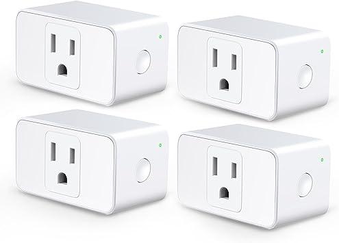 Compatiable with Alexa Google White meross Smart Plug Mini WiFi Outlet 16A
