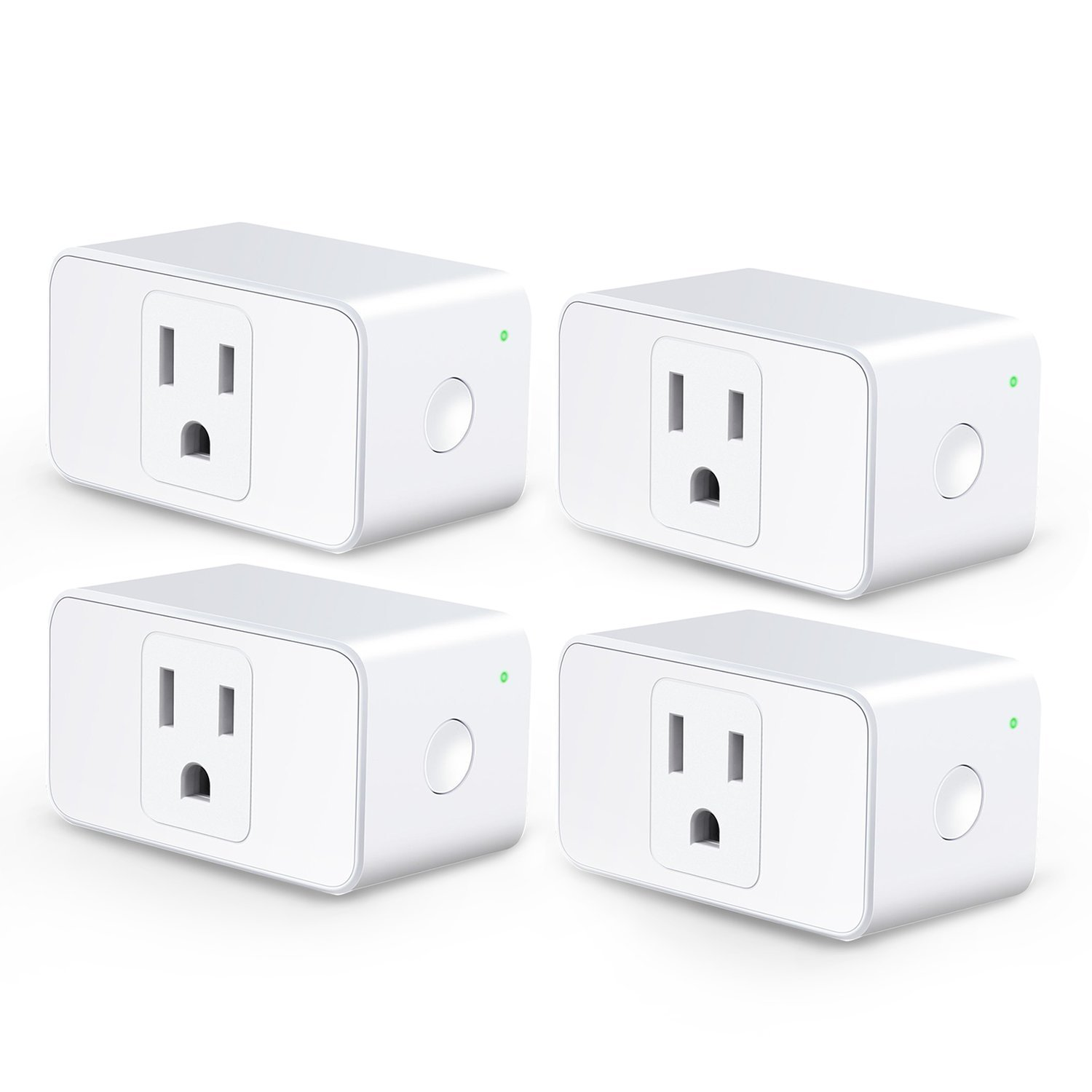 Meross WiFi Smart Plug Mini, 16 Amp & Reliable Wifi Connection Powered by Mediatek Chipset, Alexa and Google Voice Control, App Remote Control, Timer, Occupies Only One Socket, No Hub Needed, 4 Pack by meross