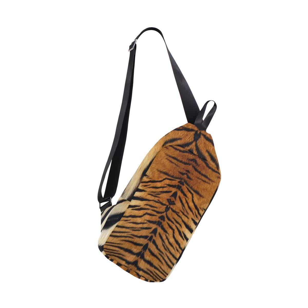 TFONE Animal Tiger Print Crossbody Bag Lightweight Chest Shoulder Messenger Pack Backpack Sling Bag