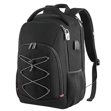 0610d1a0c1 Della Gao Antivol Sac à Dos Ordinateur Portable 17.3 Pouces Homme  Imperméable TSA Friendly Sac a