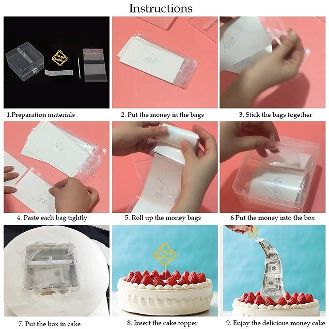 Aprildecember666 Cake Money Box Money Pulling Cake Making Mold Food Contact Safe 4 3x4 3x2 8 Inch