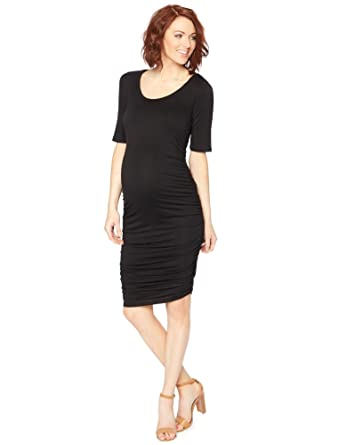 Motherhood Side Ruched Maternity Dress at Amazon Women's Clothing ...